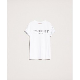Twinset T-shirt con Logo in...